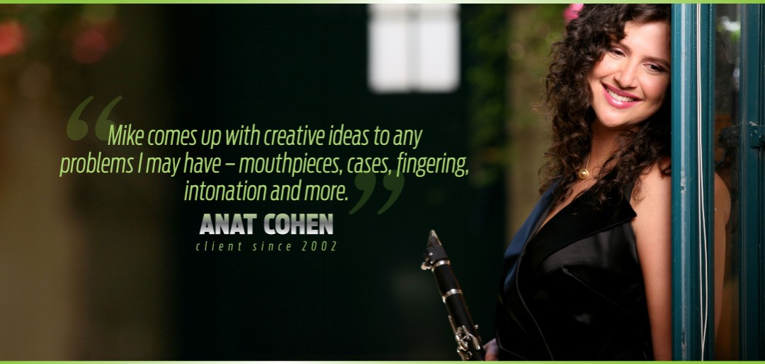 Anat Cohen Uses Mike Manning Custom Repair Services